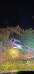 A Volkswagen crashed at the southbound on-ramp to Interstate 5 at Cypress Avenue in Redding on Friday night, May, 8, 2020.