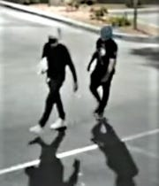 Security camera image of burglars who broke into the Sally Beauty Supply store on Montana Avenue by Trowbridge Drive on April  21 and May 1, 2020.