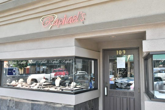 Raphael's Fine Jewelry reopened Friday under the county's phased reopening plan. Business is slow with many customers still uneasy about entering the shop, but owner Raphael Arzate is hopeful for a bounce back.