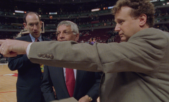 West Long Branch native Gregg Winik (right), with then NBA Commissioner David Stern (center) and current NBA Commissioner Adam Silver before Game 5 of the 1998 NBA Finals.