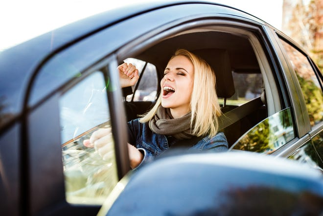 A solo drive in a car can be a quick get away for a parent