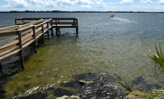 The water clarity of the Indian River Lagoon, as seen from a public pier in Rockledge on May 11.
