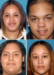 Ten new defendants charged in connection with a State Police detective's shooting include, clockwise from top left, Aisha McArthur of Vineland, and Bridgeton residents Chayana Diaz, Jenislen Quiles and Melissa Romero.
