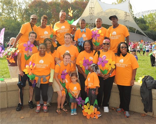 Queen City Homecare team at the Alzheimer's walk