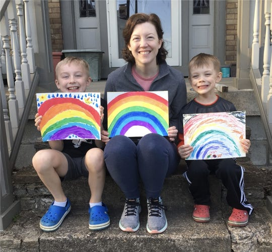 """Mercy staff participated in a """"Chasing Rainbows"""" photo share during the COVID-19 school closure."""