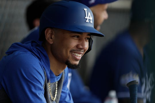 Mookie Betts will be playing his first season with the Los Angeles Dodgers.