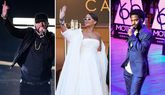 Through their foundations, Eminem, Rihanna, and Big Sean have committed more than $4 million in recent days to help local areas hit hard by coronavirus.