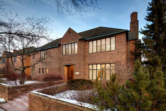 """Eliel Saarinen's residence, like much of the work on Cranbrook's Academy Way, will be the subject of a Wednesday """"Live at Five"""" video tour on Facebook."""