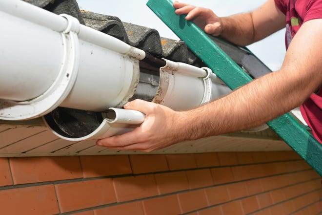 Keep an eye out for sagging, cracking or leaking.