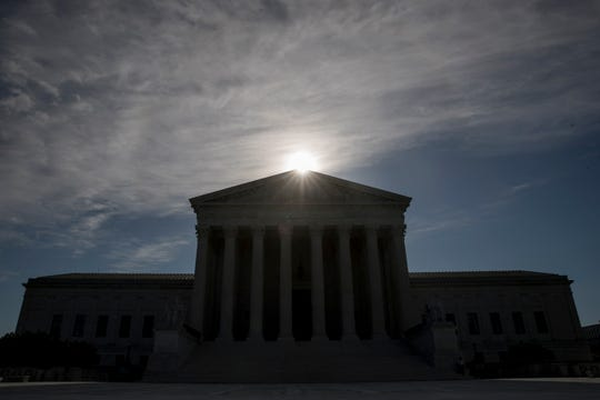 A case about the appropriate separation between church and state is taking center stage at the Supreme Court, which is hearing arguments by telephone for a second week because of the coronavirus pandemic. The case involving two ex-Catholic school teachers and their former employers is one of two the court is tackling Monday.