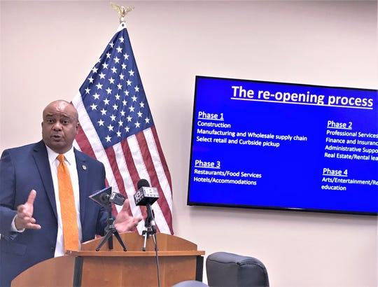 Chemung County Executive Christopher Moss discusses steps in reopening the county's economy.