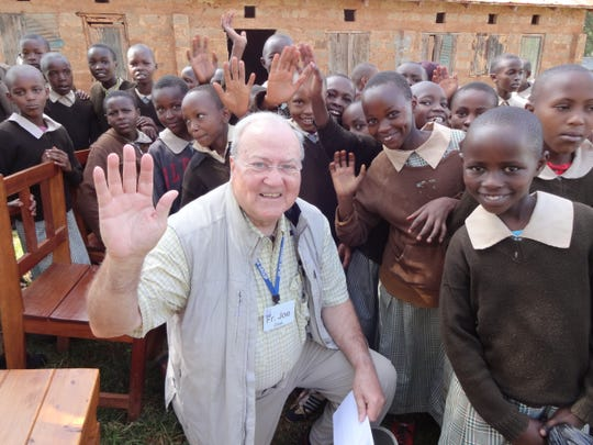 Kenya. Small village. We brought all kinds of school supplies for the kids.