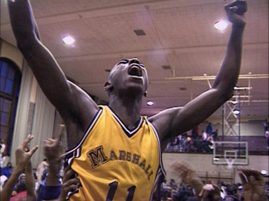 "A screen grab from ""Hoop Dreams"""