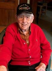 Owen Hughes continues painting at 101.