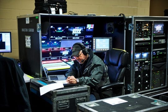"""Anthony Pagano says that his goal, as a producer/director in entertainment television, is to make the entertainers look and sound as good as possible. A director who does that by directing multiple cameras simultaneously for live television is called a """"high risk"""" director."""