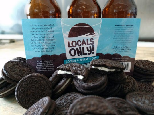 Locals Only Cookies & Cream Stout is a collaboration beer available at Green Bay breweries and select retail locations.
