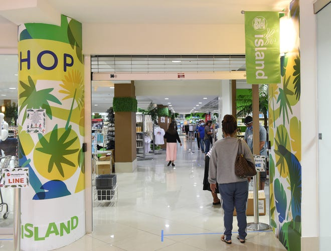 Customers shop in SM Island at Agana Shopping Center on May 11, 2020.