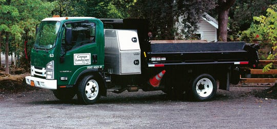 A Cayuga Landscape truck. Cayuga Landscape is located in Lansing.