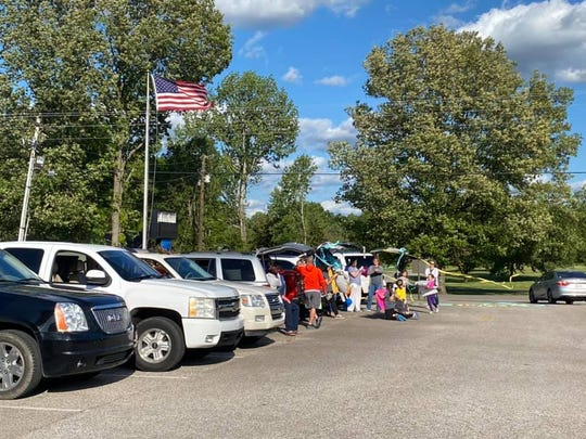 Families and their vehicles filled the parking lot at Westover Elementary last week when they had a celebration for Elise Eads, a teacher who was diagnosed with cancer earlier in the school year but finished her chemotherapy last week.
