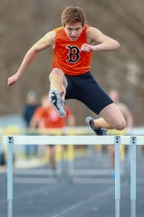 Brighton's Brenden Edoff was hoping to take down the school record in the 300-meter hurdles this spring.