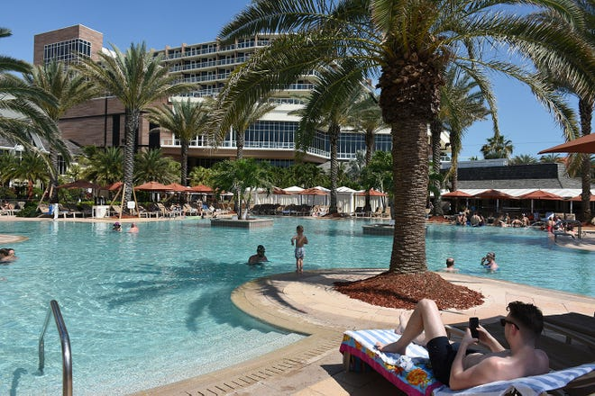 A pool area at JW Marriott Marco Island Beach Resort in this file photo. Three Marco Island hotels and the island itself have been nominated in the 2020 Condé Nast Traveler awards competition.
