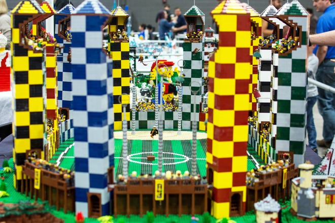At Brickworld's virtual conventions, Lego lovers can interact with Lego builders as they build their creations in Zoom meeting rooms.