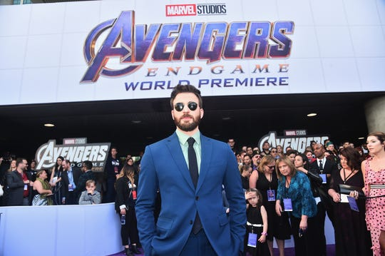 """Chris Evans attends the Los Angeles World Premiere of Marvel Studios' """"Avengers: Endgame"""" at the Los Angeles Convention Center on April 23, 2019 in Los Angeles, California."""