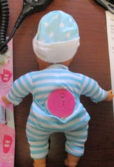 Customs officers found tablets of Stillnox, a sedative-hypnotic controlled drug, hidden in a toy doll.