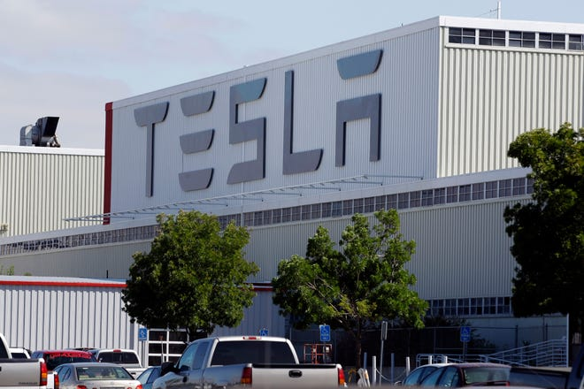 The Tesla factory in Fremont, Calif.