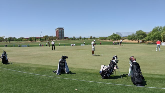Several PGA Tour pros are teeing it up this week in the Scottsdale AZ Open at Talking Stick Golf Course.