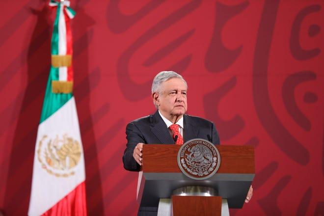 El presidente de México, Andrés Manuel López Obrador, ofrece una rueda de prensa matutina en el Palacio Nacional de Ciudad de México.