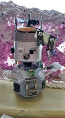 Students make model robots in one of the Shasta County Arts Council's summer arts camps.