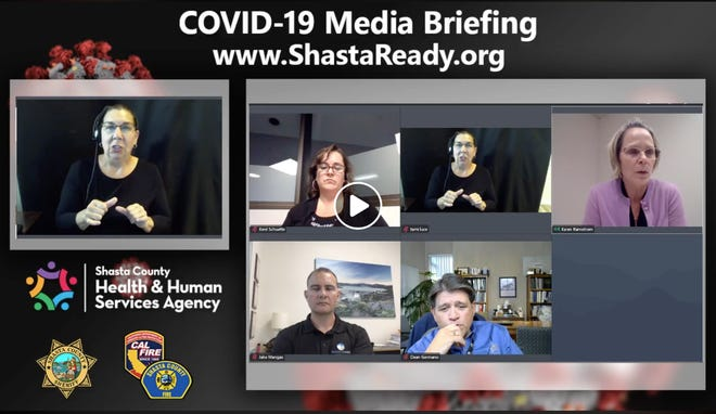 Shasta County officials held a press conference clarifying restrictions around dine-in restaurants on Monday, May 11, 2020.