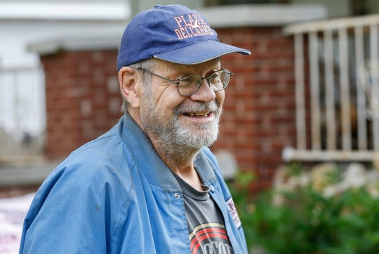 Air Force veteran Warren Dake smiles as he talks about the improvements that will be made to his home on Monday, May 11, 2020.