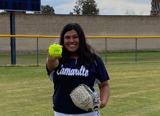 Camarillo High softball ace Eryka Gonzalez is headed to Cal State Northridge after going 5-0 for the Scorpions as a senior.