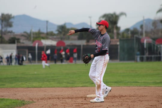 Fernando Fimbres started at shortstop for the Hueneme High baseball team as a junior and senior.