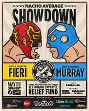 """Guy and Hunter Fieri will battle Bill and Homer Murray on May 15 in a """"Nacho Showdown"""" to benefit the Restaurant Employee Relief Fund."""