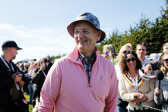 PEBBLE BEACH, CALIFORNIA - FEBRUARY 05: Actor Bill Murray laughs during the 3M Celebrity Challenge prior to the AT&T Pebble Beach Pro-Am at Pebble Beach Golf Links on February 05, 2020 in Pebble Beach, California. (Photo by Michael Reaves/Getty Images)