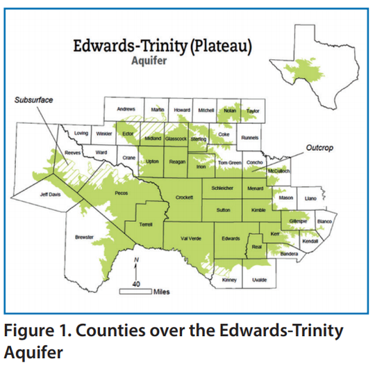 Edwards-Trinity aquifer map.