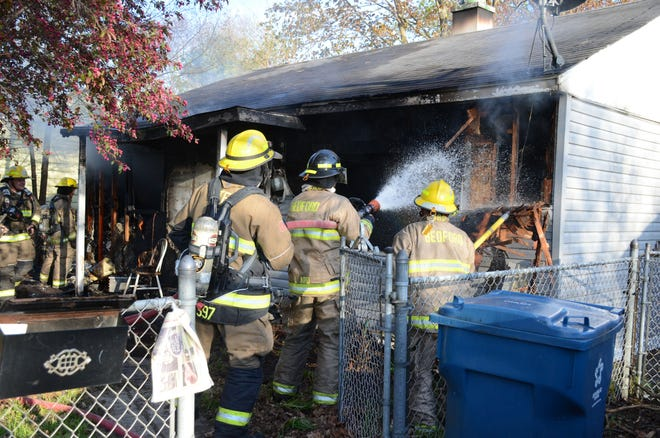 A fire destroyed a home on Saratoga Avenue Monday evening.