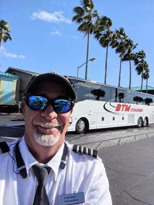 Frank Ward, a longtime driver for BTM Coaches of Cocoa, will be among those taking part in the May 13 Rolling Awareness Campaign in Washington, D.C. Motorcoach companies and drivers nationwide hope to draw attention to the lack of federal funding for the industry, one severely hurt by the coronavirus pandemic.