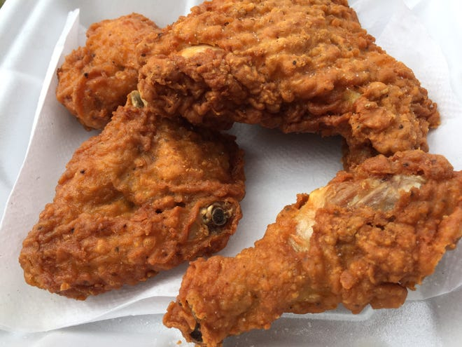 Fried chicken from Joe's Snack Bar in Jericho on May 11, 2020.