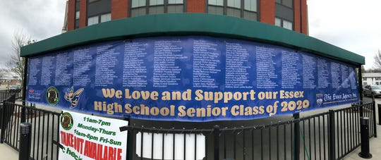 McGillicuddy's at Five Corners in Essex shows support for graduating high school seniors who have had their final months in school upended by the global COVID-19 pandemic.