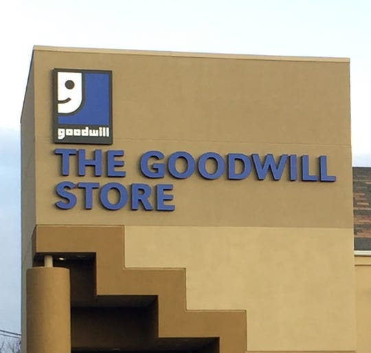 A sign identifies a Goodwill store in Maple Shade.