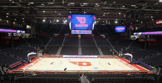 OHSAA approved photo of the University of Dayton's arena which will host Ohio state girls basketball tournaments for the next three seasons