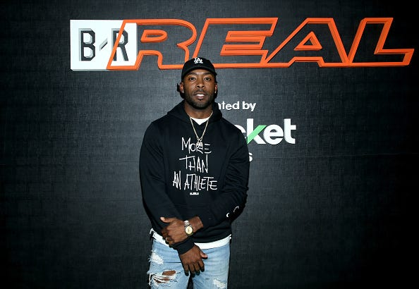 Former NFL player Andrew Hawkins attends the B/Real Premiere Event at Kimpton La Peer Hotel on October 19, 2018 in West Hollywood, California.