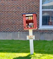 Little Free Libraries at Soehl Middle School in Linden have been converted to tiny pantries filled with non-perishable foods to help out families in need.