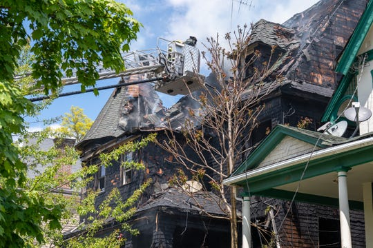 North Plainfield fire damages 3-story home Tuesday at 46 Grove St.