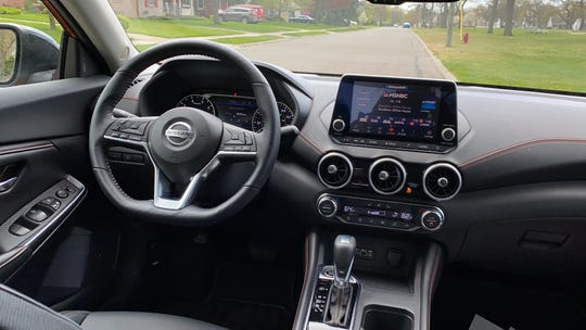 The 2020 Nissan Sentra SR has an 8.0-in. touch screen, simple controls and soft-touch materials.
