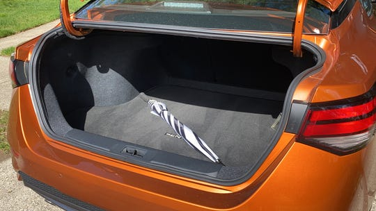 The 2020 Sentra's 14.3 cubic foot trunk.